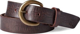 Ralph Lauren Terrance Tumbled Leather Belt