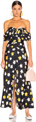 Self-Portrait Self Portrait Floral Printed Dress in Black | FWRD