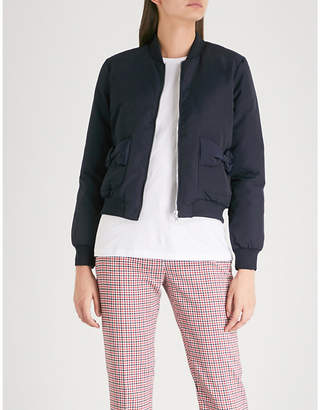 Claudie Pierlot Bow-detail shell-down jacket