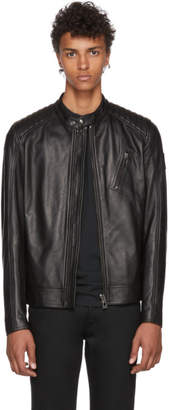 Belstaff Black Leather V-Racer Jacket