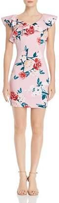 GUESS Farrah Floral-Print Scuba Dress