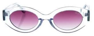 Quay Oval Tinted Sunglasses