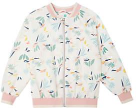 John Lewis Girls' Printed Bomber Jacket, Neutral