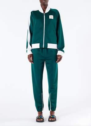 Tibi Double Knit Pique Zip Up Jacket
