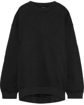 Acne Studios Beta Guitar Studded Appliqued Cotton-blend Fleece Sweatshirt