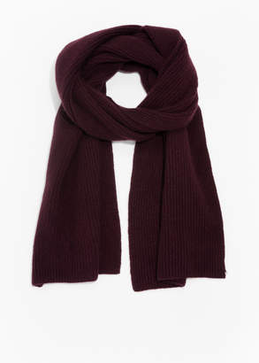And other stories Ribbed Cashmere Scarf