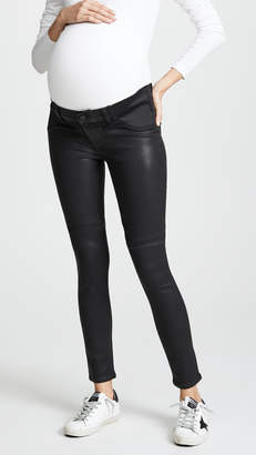 Paige Coated Verdugo Ultra Skinny Maternity Jeans