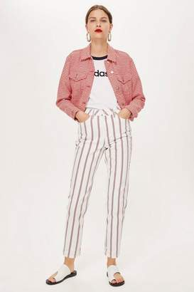 Topshop Striped Mom Jeans