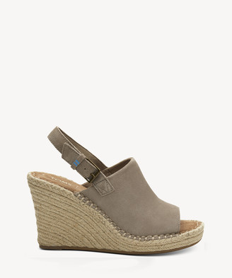 Toms Women's Monica Slingback Espadrille Natural Hemp Size 10 Suede From Sole Society