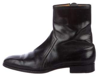 a. testoni a.testoni Leather Zip Ankle Boots
