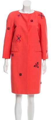 Emilio Pucci Embellished Knee-Length Coat