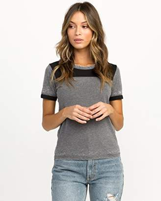 RVCA Junior's BERT OE Short Sleeve Ringer T-Shirt