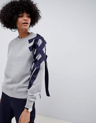 Asos sweatshirt with ribbon detail