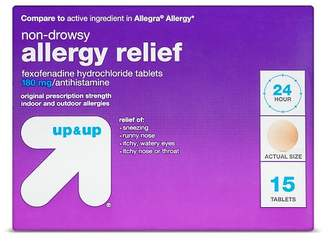 Up&Up Fexofenadine Hydrochloride Allergy Relief Tablets - 15ct - Up&Up (Compare to active ingredient in Allegra Allergy)