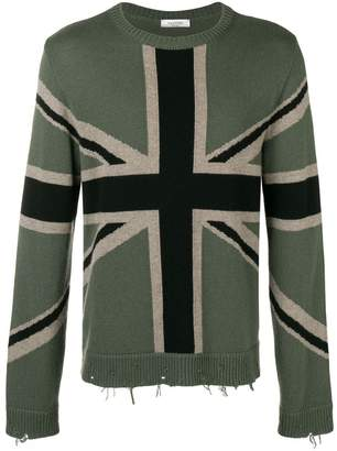Valentino british flag jumper