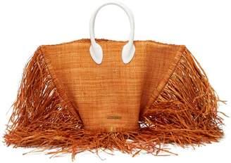 Jacquemus Le Baci Fringed Straw Tote Bag - Womens - Orange Multi