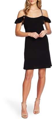 CeCe Cold Shoulder Ruffle Detail Shift Dress