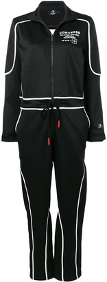 Converse logo zipped jumpsuit