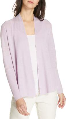 Eileen Fisher Shaped Organic Linen Cardigan
