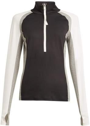 Bogner Ryana Half Zip Stretch Jersey Mid Layer Top - Womens - Grey Multi