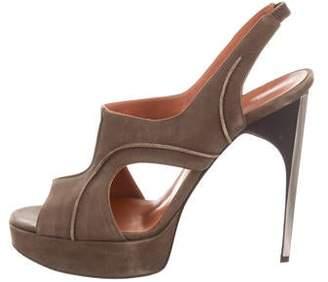 Lanvin Nubuck Platform Sandals