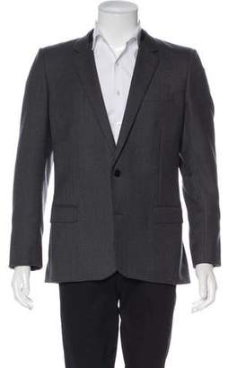 Saint Laurent Leather-Trimmed Wool Blazer