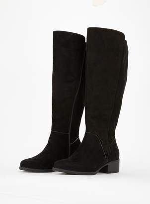 877a798b6b6 Evans EXTRA WIDE FIT Black Over The Knee Boots