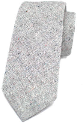 Kathrine Zeren Heathered Grey Skinny Tie