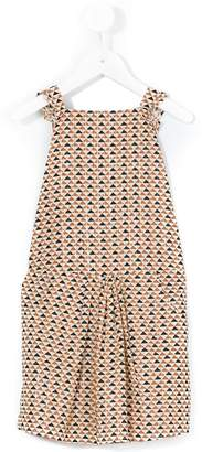 Emile et Ida sleeveless triangle print dress