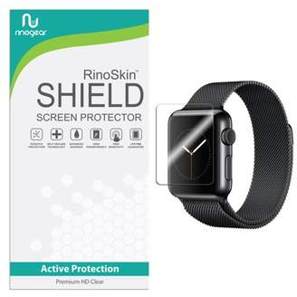 clear RinoGear [6-PACK] Apple Watch 38mm (Series 1, 2, 3) Screen Protector [Active Protection] Sport Flexible HD Crystal Anti-Bubble Film