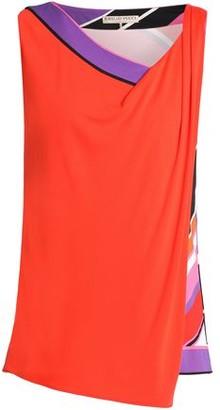 Emilio Pucci Asymmetric Printed Stretch-Jersey Top