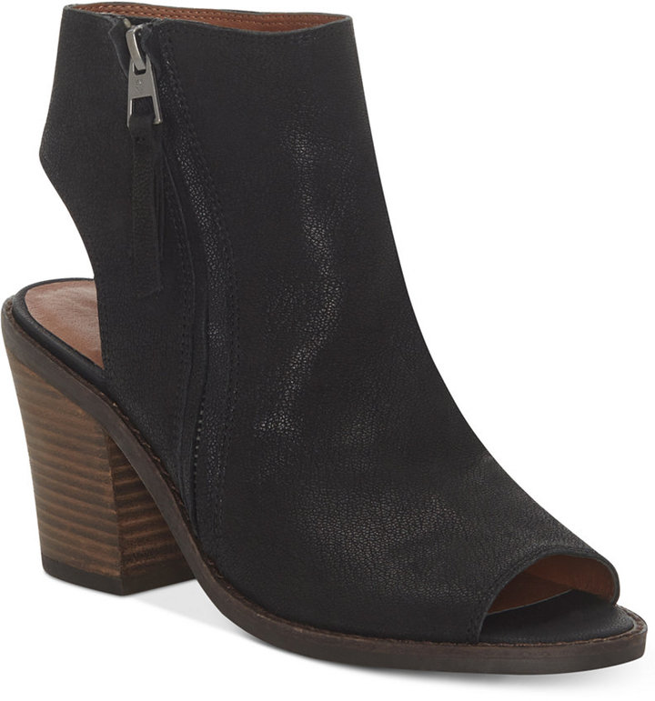 Lucky Brand Women's Terrie Peep-Toe Shooties Women's Shoes