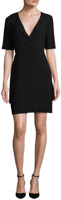 BCBGMAXAZRIA Wrap Mini Dress
