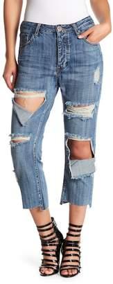 One Teaspoon Hooligans Distressed Step Hem Jeans
