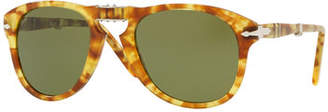 Persol Men's PO0714 Acetate Aviator Sunglasses