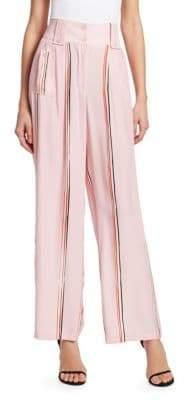 Emporio Armani Striped Fluid Silk Pants