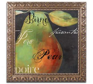 Trademark Global Color Bakery 'Painted Pear I' Ornate Framed Art