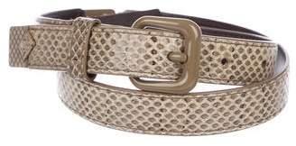Bottega Veneta Snakeskin Waist Belt