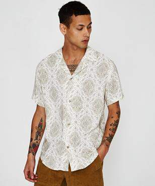 rhythm Florence Short Sleeve Shirt Natural