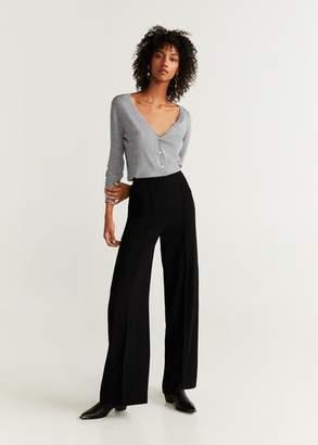 MANGO Modal-blend knit cardigan medium heather grey - XXS - Women