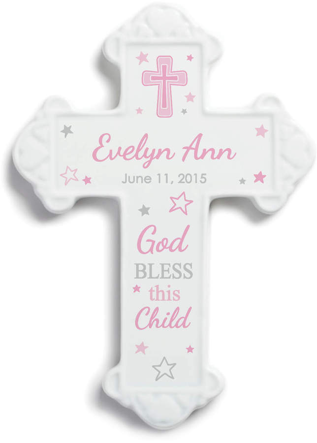 Pink 'God Bless This Child' Personalized Wall Cross
