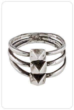 Lauren Wolf Jewelry Triple Pyramid Stud Ring