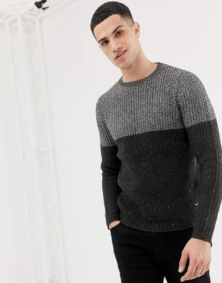 ONLY & SONS Color Block Knitted Sweater