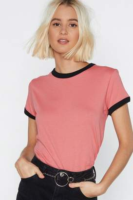 Nasty Gal Ringer Me Later Fitted Tee