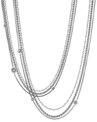 David Yurman Starburst Pearl Chain Necklace