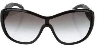 Chanel Tweed Shield Sunglasses