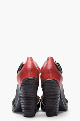 Marsèll Black & Red Leather Pennola Heels