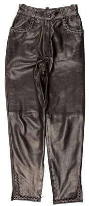 Christian Dior Leather High-Rise Pants