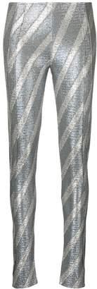 Paco Rabanne striped leggings
