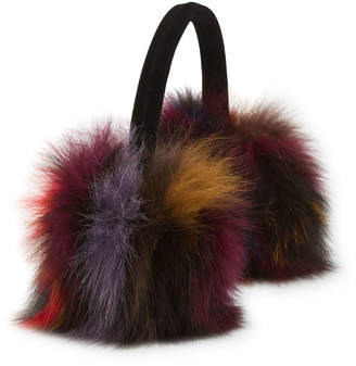 Annabelle New York JADE Multicolor Fox Fur Ear Muffs